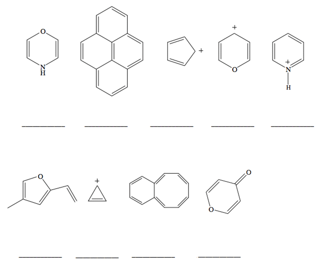 Classify each of the following molecules and ions as