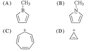 Which stucture is not aromatic?