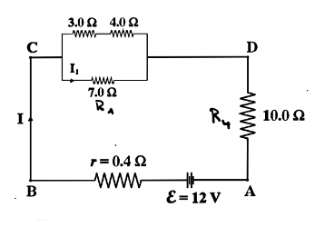 Four resistors are connected as shown in the figure t...