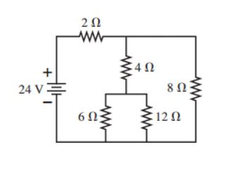 For the circuit shown in the picture , find the current