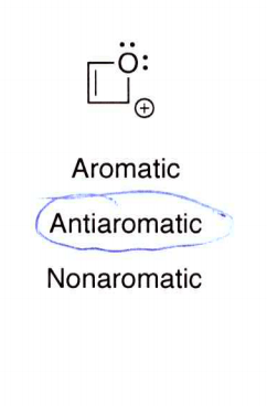 Can you explain why this is antiaromatic instead of