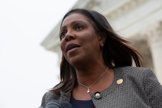 New York Attorney General Letitia James outside the Supreme Court.
