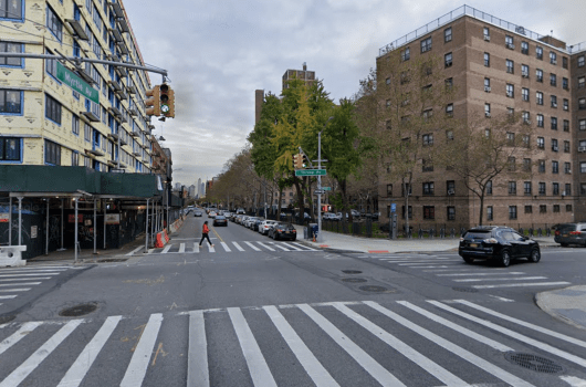 The intersection of Myrtle and Throop in Bed-Stuy