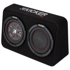 Dual Voice Coil Subwoofer Box Wiring Diagram Toyota 1jz Gte Vvti Rent To Own Kicker Comprt 8 4 Ohm Loaded Enclosure Black Flexshopper