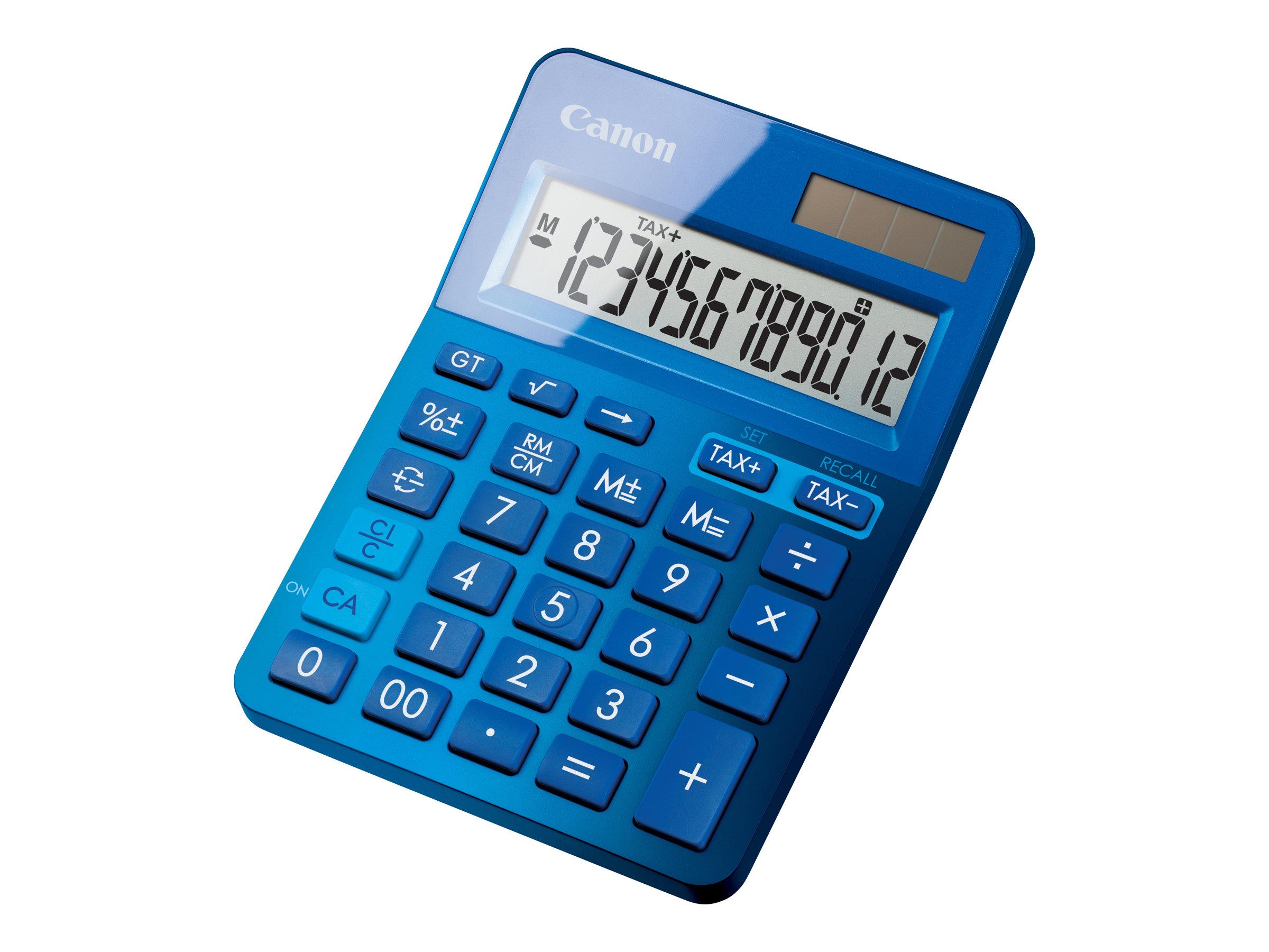 canon ls 123k calculatrice de bureau 12 chiffres differentes couleurs disponibles