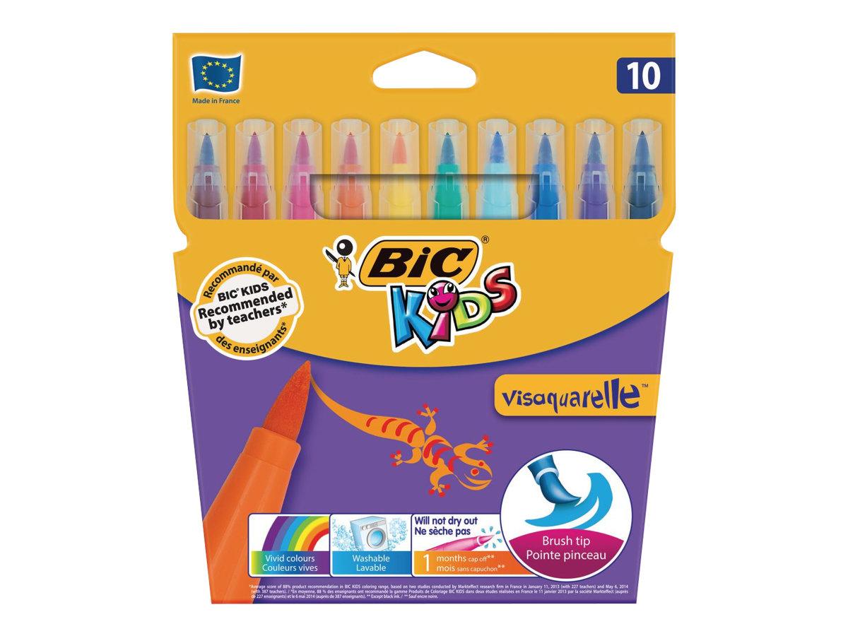BIC KiDS Visaquarelle 10 Feutres Feutres De Coloriage
