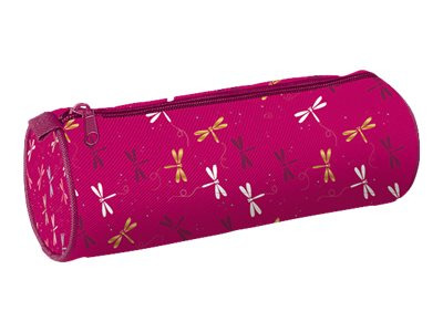 By Oberthur Girl Trousse Ronde Rose 1 Compartiment