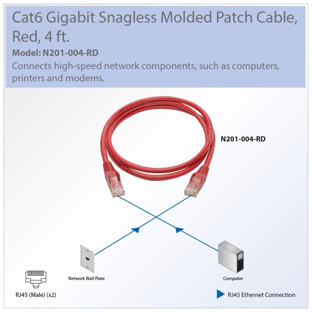 medium resolution of  diagram tripp lite premium cat6 gigabit snagless molded utp patch cable 24 on cat 6 wiring