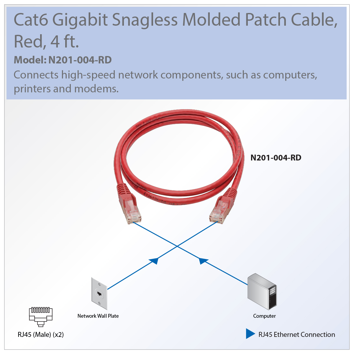 hight resolution of  diagram tripp lite premium cat6 gigabit snagless molded utp patch cable 24 on cat 6 wiring