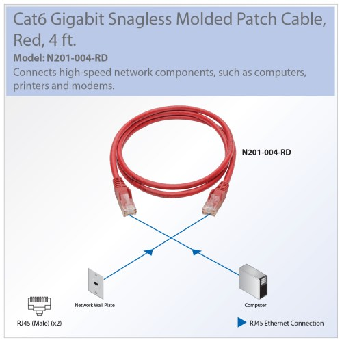 small resolution of  diagram tripp lite premium cat6 gigabit snagless molded utp patch cable 24 on cat 6 wiring