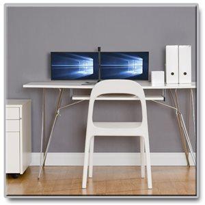 dual monitor desktop mount