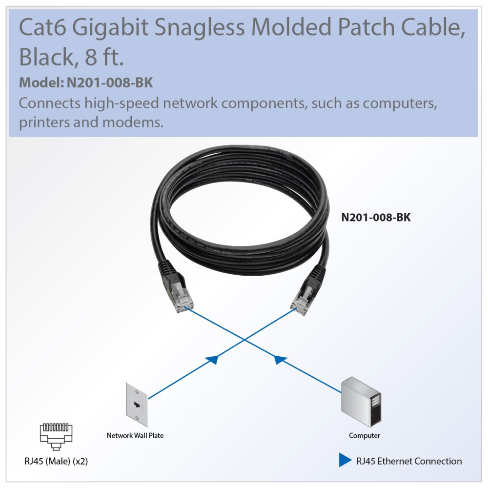 medium resolution of recommended patch cable for connecting components in your cat6 gigabit ethernet network