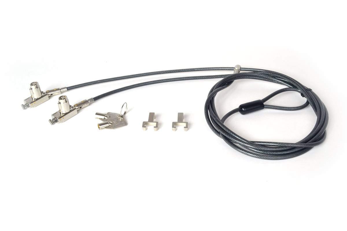 Noble Double Head T Bar Lock With Barrel Key And Cable