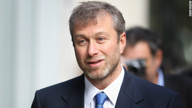 Chelsea Football Club owner Roman Abramovich features on the new US list.