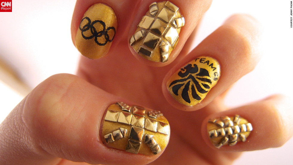 Jenny Pasha Of London Created This Studded Manicure In Support Team Gb