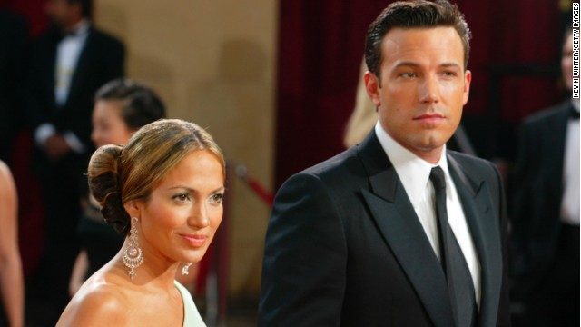 Ben Affleck and Jennifer Lopez at the Academy Awards in 2003.