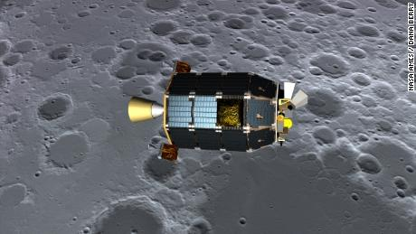 The scientists used data from LADEE, a robotic vehicle that studied the moon from orbit to 2014