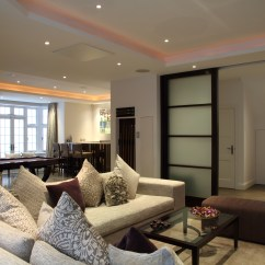 Basement Living Rooms Clarke Fabric Sectional Sofa Room Furniture Sets Pieces London S Amazing Luxury Basements Cnn Style