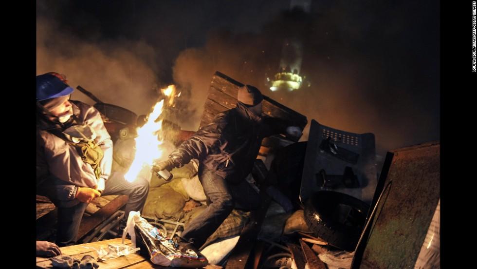 Riot Independence Square Ukraine