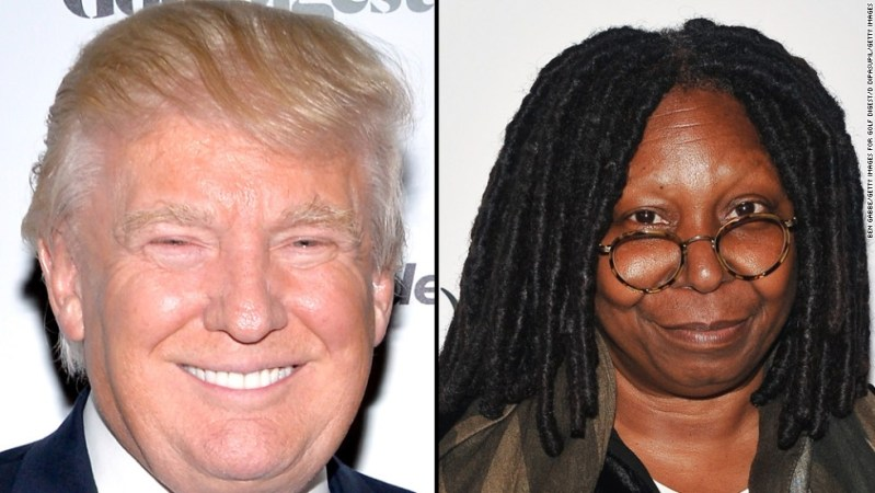 """Last August, Donald Trump protested <a href=""""https://twitter.com/realDonaldTrump/status/495379061972410369"""" target=""""_blank"""">via Twitter</a> about two American Ebola patients returning to the United States. Whoopi Goldberg responded on her show that while Trump is her friend,<a href=""""http://www.thewrap.com/whoopi-goldberg-lashes-out-at-donald-trump-for-stupid-ebola-virus-tweets-on-the-view/"""" target=""""_blank""""> """"that was a stupid comment. Do your homework, Donald. Just do your homework.""""</a>"""