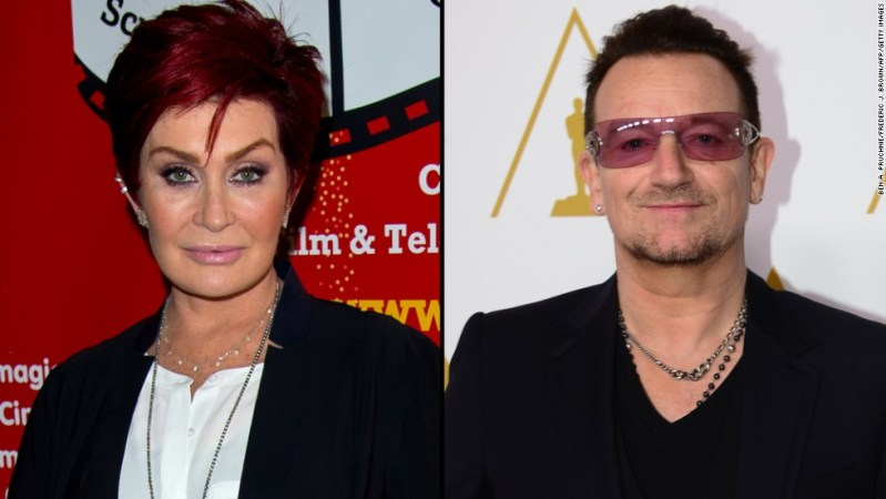 """Sharon Osbourne is also not a fan of U2's giveaway. The TV personality took the group and Bono to task in September 2014 for releasing a free album via iTunes. She called their music """"mediocre"""" and the group """"middle-age political groupies."""""""