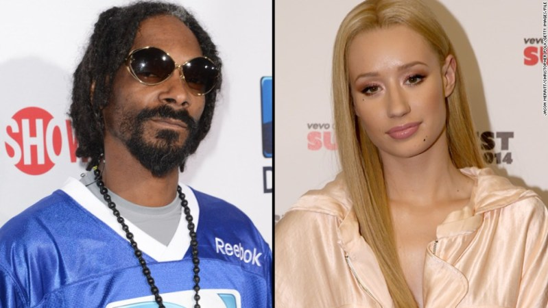 """Snoop Dogg and Iggy Azalea also battled in a very public way. After <a href=""""http://www.cnn.com/2014/10/15/showbiz/snoop-iggy-feud/index.html"""" target=""""_blank"""">Snoop made fun of Iggy's appearance on social media</a>, the """"Fancy"""" rapper responded with confusion, saying that she didn't understand why Snoop would be """"supportive to my face but another way on your Instagram."""""""