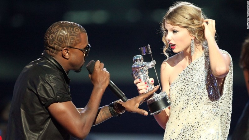 """Kanye West and Taylor Swift had one of the greatest celeb feuds of all time. The rapper famously grabbed the singer's mic at the 2009 MTV Video Music Awards. He later apologized, and she seemed to accept his apology via her song """"Innocent."""""""