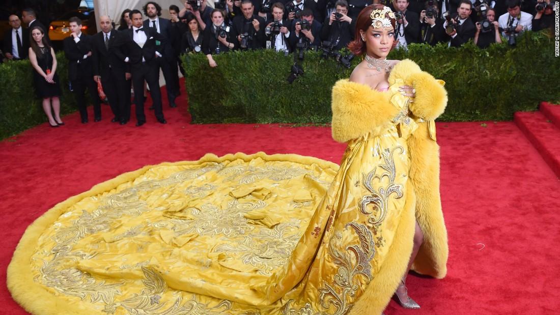 Jokes scramble the real meaning of Rihanna39s yellow cape CNN