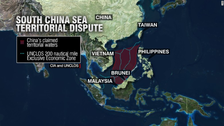 Risultati immagini per south and east china sea map spratly