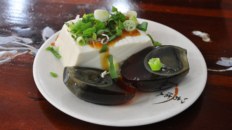 Image result for thousand year old egg with tofu