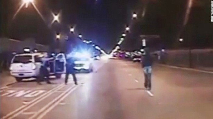 Image result for cop fired multiple time hitting laquan Mcdonald