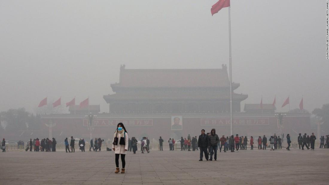 Image result for china, haze, Tiananmen, photos