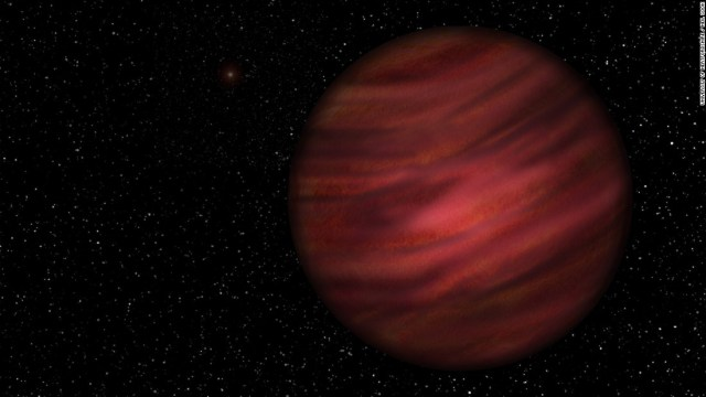 An artist's impression of 2MASS J2126, which takens 900,000 years to orbit its star, 1 trillion kilometers away.