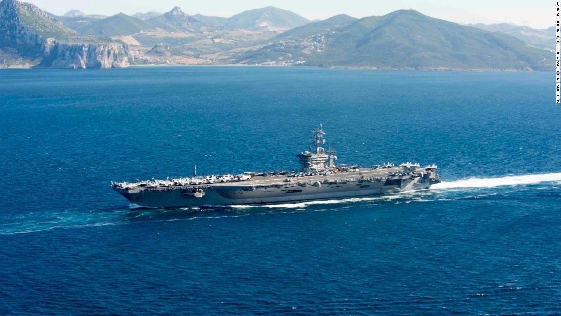 aircraft carrier diagram cat 5 wiring report u s carriers could become ineffective cnnpolitics the uss dwight d eisenhower cvn 69 ike transits
