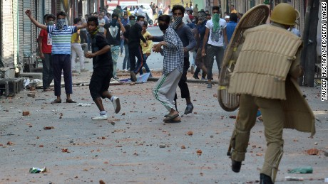 At least 20 killed in Kashmir clashes after militant's death