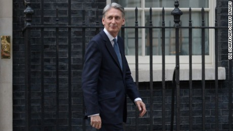 """British Chancellor Philip Hammond has warned against a """"no deal"""" Brexit."""