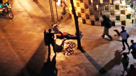 brutal street fight caught