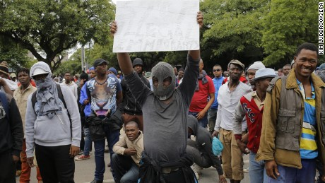 Anti-immigrant protests erupt in South Africa's capital