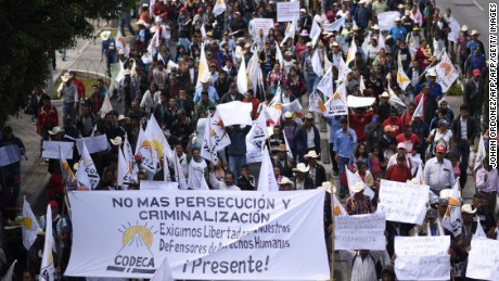 "Guatamalan protesters demand the resignation of President Jimmy Morales for ""his inability to govern"" and possible acts of corruption."
