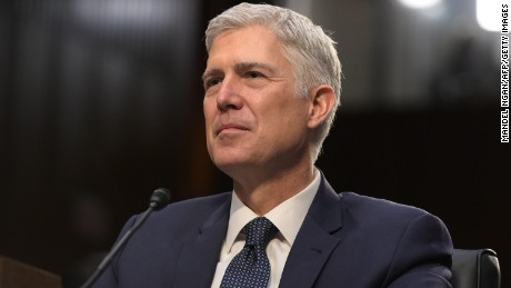 Neil Gorsuch testifies before the Senate Judiciary Committee during his nomination hearing to be an Associate Justice of the US Supreme Court on March 22, 2017 in Washington, DC.