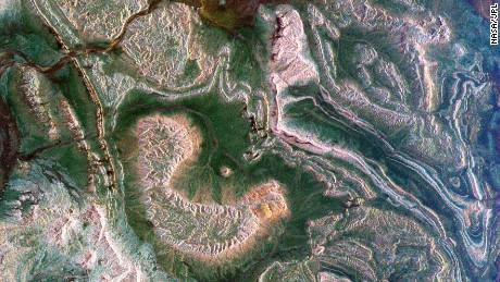 This radar images from 1999 shows the Atlas mountains and parts of Morocco.