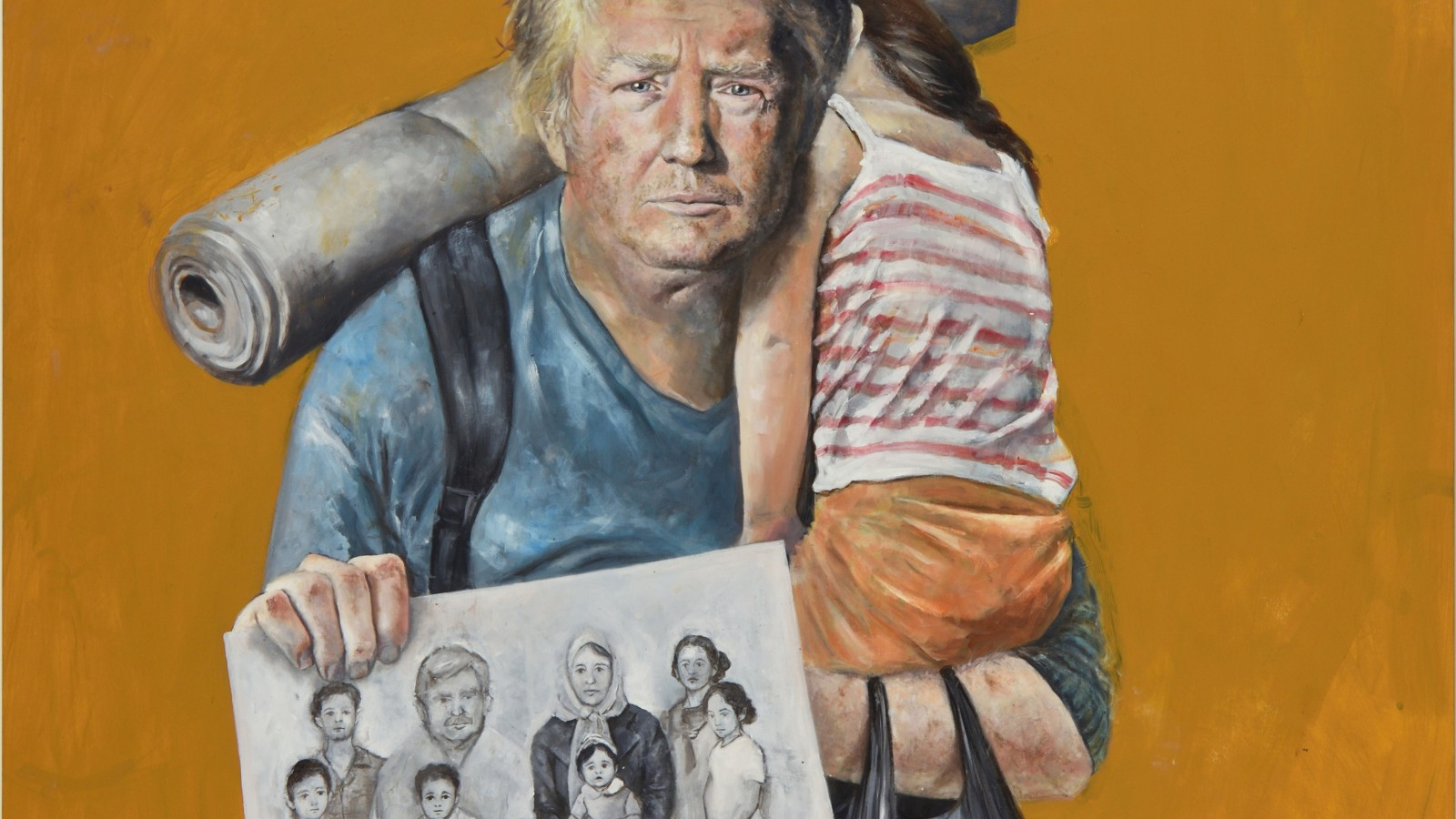 syrian artist depicts trump