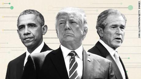 Bush, Obama blasts will be water off Trump's back