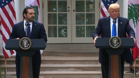 PM Saad Hariri's joint press conference with US President Donald Trump