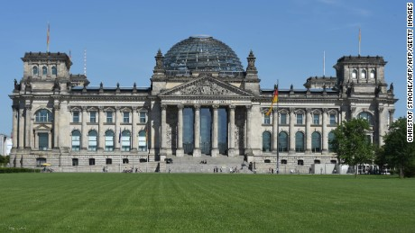 The Reichstag building in Berlin houses the Bundestag, Germany's federal parliament