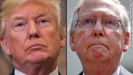 McConnell ist abwesend, als Trump nach einem Treffen mit den Hill-Anführern den Kampf gegen das Herunterfahren der Gespräche führt