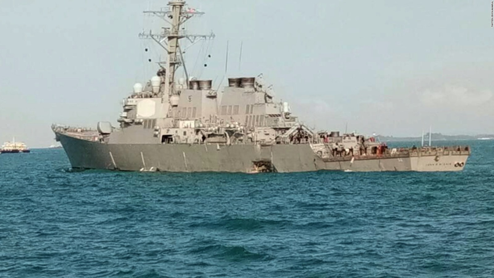 us navy destroyer collides with ship