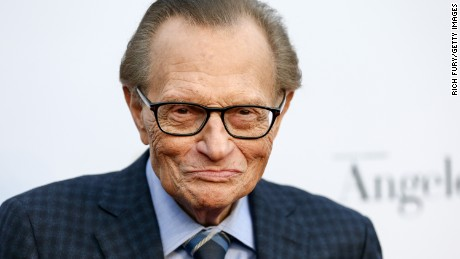 Larry King is recovering in hospital after a heart attack