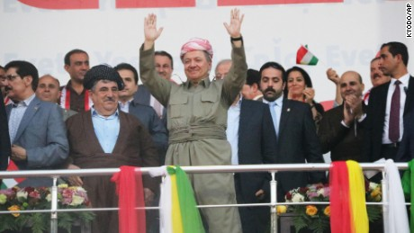 Kurdish leader claims victory for 'yes' vote in independence referendum