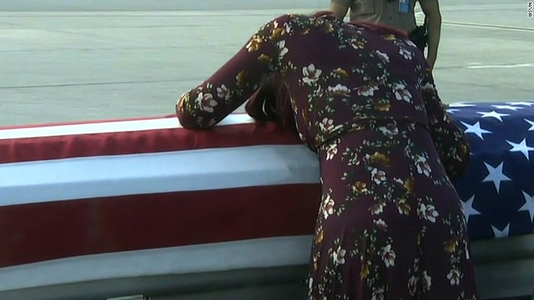 Image result for Congresswoman says Trump told widow of fallen soldier 'he knew what he signed up for'